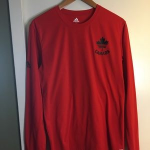 Adidas Canada Olympic Jersey Red Size Large